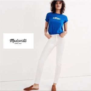 Madewell White 11in High Rise Skinny Jeans